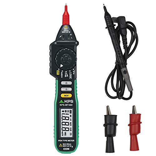 KPS-MT460 Multímetro digital tipo lápiz con NCV (detección sin contacto) 2000 cuentas Tension AC/DC 600V Corriente Corriente 200mA Resistencia 20MΩ Continuidad Prueba de diodos