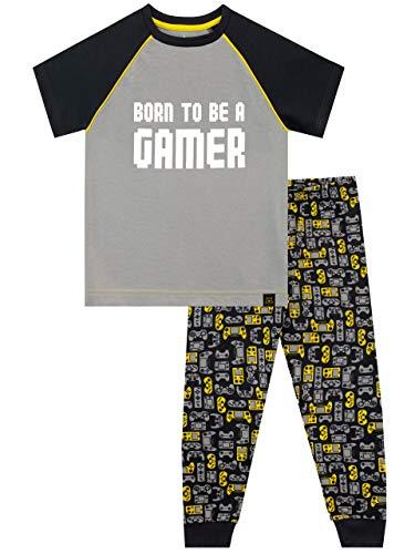 Harry Bear Jungen Gaming Schlafanzug Grau 146