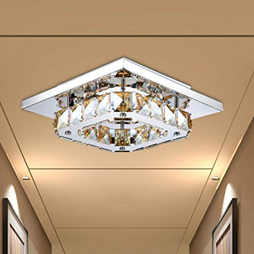 XXYHYQHJD Luz de Techo de Cristal de Estilo Simple Creativo LED Flush Forma de Montaje Cuadrado for Estar Comedor Dormitorios Colgante de luz