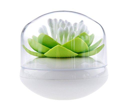 Da.Wa Boîte Rangement Porte-cure-dents Cotons Tiges Swab Organizer En forme de Lotus Holder Maison Decor