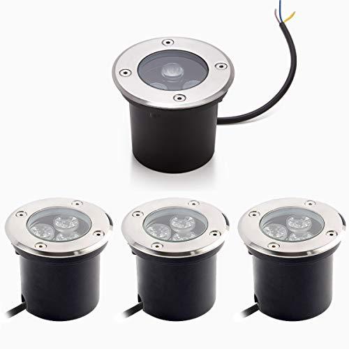 Foco Suelo Led Lámpara de Subterránea 3W 3000K Blanco Cálido Impermeable IP67 AC85-265V 270LM LED Foco empotrable al Aire...