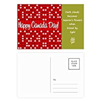 カナダ風味の幸せなカナダの日 詩のポストカードセットサンクスカード郵送側20個