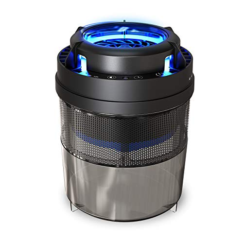 Fly Trap FLASHVIN Mosquito Trap Fruit Fly Trap Indoor Bug Zapper Mosquito Killer with UV Trap Automatic Intelligent Light Induction with Sticky Glue Boards for Home Kitchen No Zapper