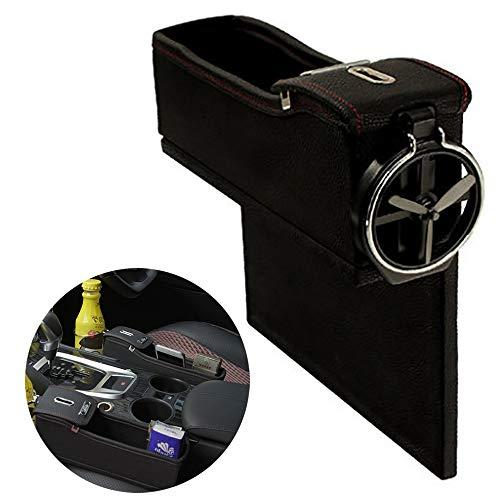 Multifunctionele opbergdoos voor de auto, creatief design, opbergdoos voor centrale controle van leer ter decoratie van de bekerhouders van de auto.