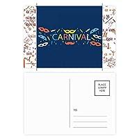 ベニスのカーニバルのの幸せなあごひげ 公式ポストカードセットサンクスカード郵送側20個