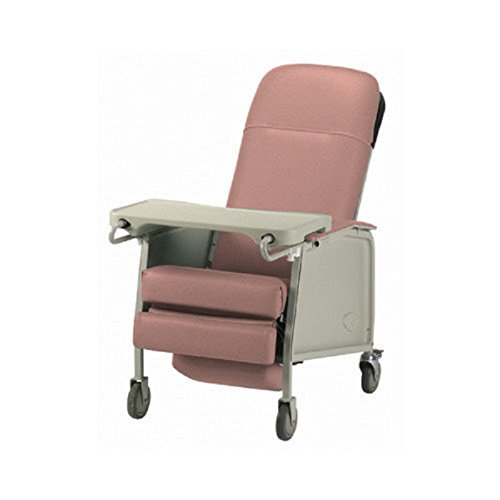 Three Position Reclining Chair with Collapsible TV Table - Invacare 3 Position Geri Recliner -...