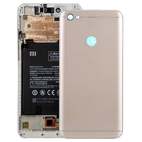 XINGCHEN Piezas de Repuesto Tapa Trasera con Teclas Laterales for Xiaomi Redmi Note 5A Prime (Gris) (Color : Gold)