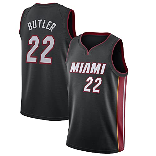 NBA NBA Miami Heat - Camiseta de manga corta para hombre (cuello redondo), color negro a XL