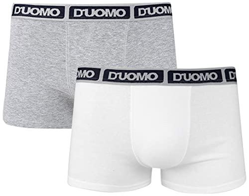 Kit 2 Cuecas Boxer Algodão, Duomo, Masculino, Branco/Marinho, GG