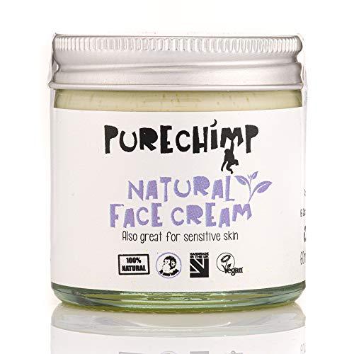 Natürliche Gesichtscreme 60ml von PureChimp - recycelbares Glas - Jojoba & Sanddorn - Vegan – frei von Alkohol & Palmöl für sensible Haut (60ml)