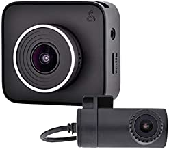 Cobra Dash Camera DASH2216D - 1080p Full HD Front Cam and 720p HD Rear Cam, 16GB MicroSD Included, Loop Recording, G-Sensor Auto Accident Detection, 160 Degree Ultra Wide Angle DVR, 2 Inch Screen