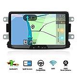 YUNTX Android 9 Autoradio Compatible avec Dacia Sandero/Renault Duster/Logan - GPS 2 Din - 2G32G -...