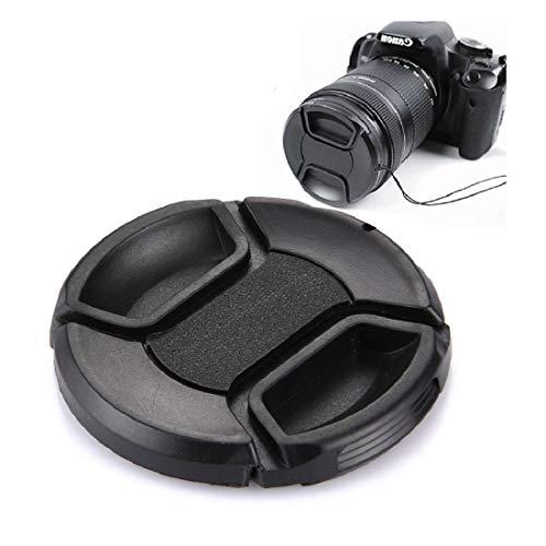 Sghjfj Cubierta de Lente 62mm Centro Pinch cámara Tapa del Objetivo (Negro)