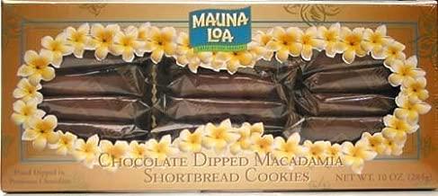 Mauna Loa Chocolate Dipped Macadamia Nut Shortbread Cookies 10-Ounce Box