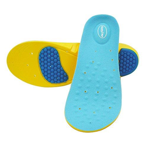 Happystep Memory Foam Sport Gel Shoe Insoles  Heel Cushioning and Shock Absorption (Size M: Men 6-8 or Women 7.5-9.5)