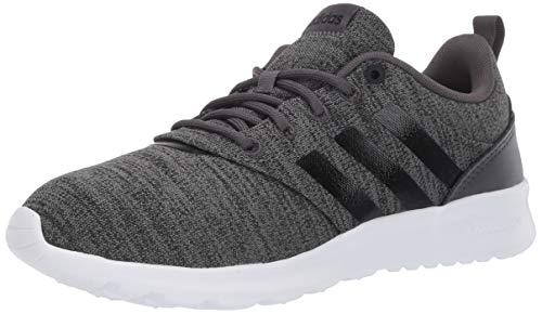 adidas Men's QT Racer 2.0 Running Shoe, Grey/Black/White, 8