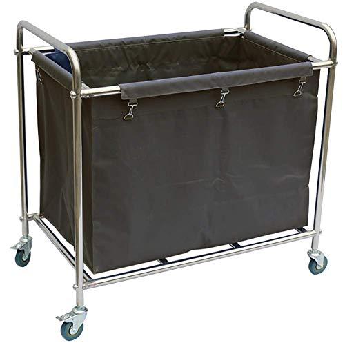 Carrito de hospital, estante de suministros médicos, carrito médico, carrito de ropa de hotel para vestíbulo, carrito clasificador de lavandería con rueda de freno universal, carrito con ruedas para s