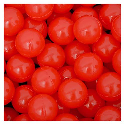 LittleTom 50 Bolas de PE 5,5cm de diámetro para llenar Piscinas para niños Rojo