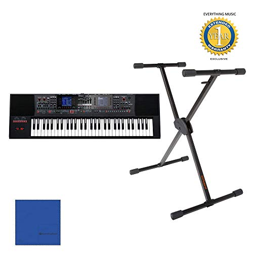 Why Choose Roland E-A7 61 Key Expandable Arranger Keyboard with KS-10X Adjustable X-Style Keyboard w...