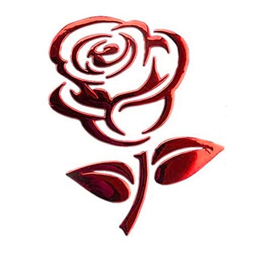 joyliveCY Aufkleber für Rose,stilvolle süße wasserdichte ästhetische Vinyl Rose Aufkleber - Auto, Koffer, Laptop Aufkleber,Silber/Rot/Gold