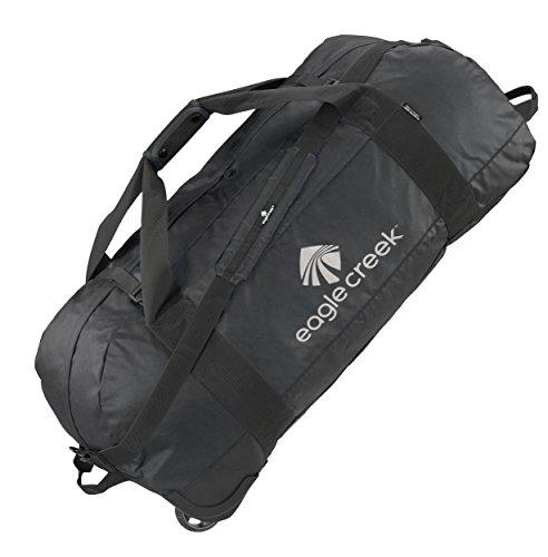 Eagle Creek Lightweight Wheeled Travel Bag No Matter What Rolling Duffel XL Ultra Durable, Black Mallette Ordinateur à roulettes, 91 cm, 128 liters, Noir (Black)