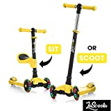 Lascoota 2-in-1 Kick Scooter with Removable Seat Great for Kids &...