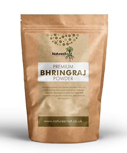 Natures Root Natürliches Bhringraj Pulver 250g - Für gesundes Haarwachstum | Eclipta Alba Pulver | Für eine schuppenfreie Kopfhaut