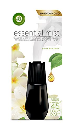 Air Wick Essential Mist - Recambio de ambientador difusor, Flores Blancas, 20 ml