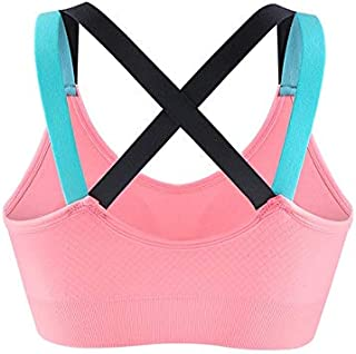 BEESCLOVER Woman Fitness Yoga Bra Female Gym Bodybuilding Running Vest Cross-Shaped Back Design Elastic Shock-Proof Removable Pad SCL332
