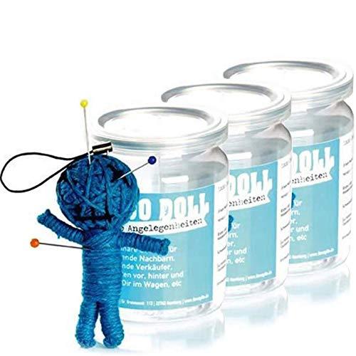 3er-Pack: Voodoo Doll in Dose   lustige Mini-Voodoo-Puppe to go   ALLGEMEINE ANGELEGENHEITEN   unverzichtbar bei größeren oder kl. Problemchen mit Nachbarn, Verkäufern, inkompetenten Autofahrern