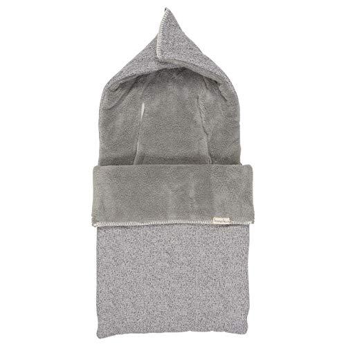 Koeka Baby Fußsack Plüsch 3/5-punktegurtegurt Vigo Sparkle Grey/steel Grey One