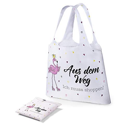 Preis am Stiel Tasche - ''Aus dem Weg - Ich muss shoppen''   Einkaufstasche faltbar   Schultertasche Damen  ...