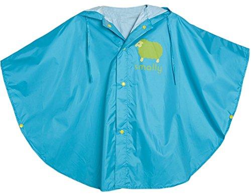 GudeHome Unisex bambino Impermeabile Bambina Bambino di pioggia incappucciati impermeabile Poncho, 80-100cm Blu