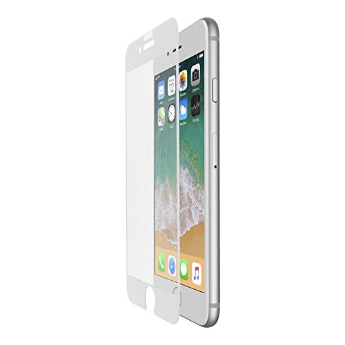 Belkin ScreenForce - Protector de Pantalla Edge to Edge Ultraglass para iPhone 7+/8+ (Cobertura de Borde a Borde, Cristal Templado) Color Blanco
