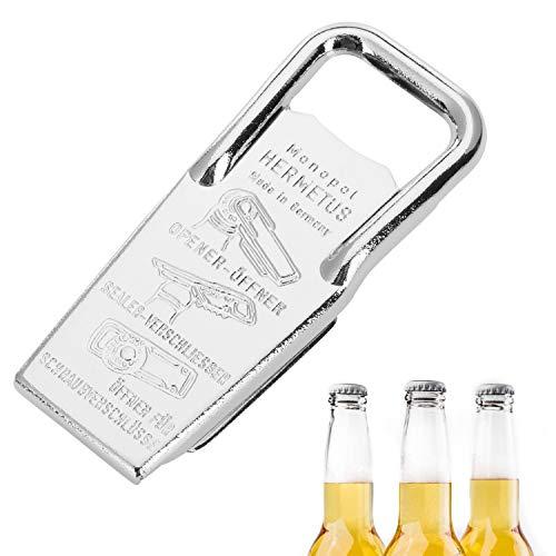 Westmark Flaschenöffner und -verschließer, 3-in-1, Stahl/Gummi, Hermetus, Silber/Rot, 61832270