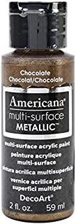 DecoArt Americana Multi-Surface Metallic Paint, 2-Ounce, Chocolate