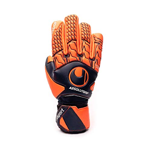 uhlsport Next Level ABSOLUTGRIP HN Torwart-Handschuhe, Marine/Fluo rot, 9
