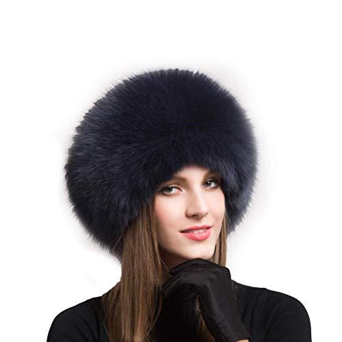 Sombrero de Piel de Mujer para Invierno Gorra de Cuero Genuino Sombreros de Piel rusos para Mujer Sombreros Sombreros Gorro cálido Gorra