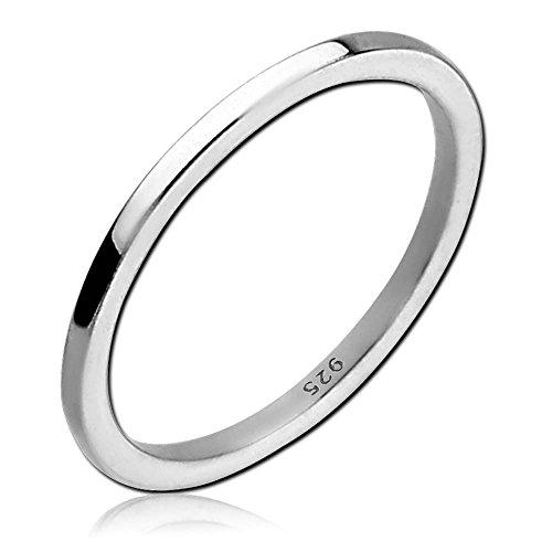 viva adorno® Damen Ring Fingerring 925 Sterlingsilber Mädchen Ring Kinder Mittelring Knöchelring Verlobungsring SR39_8, Gr.50
