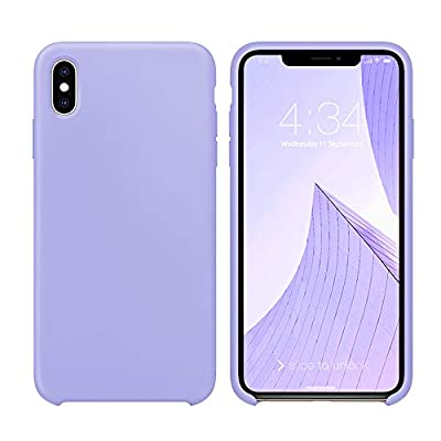 """xperg iPhone Xs Max Case, iPhone Xs Max Case Silicone, Slim Liquid Silicone Gel Rubber Shockproof Case Soft Microfiber Cloth Lining Cushion Compatible with Apple iPhone Xs Max 6.5"""" (2018), Neon Coral"""