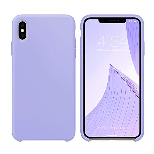 iPhone Xs Max Case, iPhone Xs Max Case 6.5 inch, Xperg Liquid Silicone Gel Rubber Shockproof Case Soft Microfiber Cloth Lining Cushion Compatible with iPhone Xs Max 6.5' (2018)