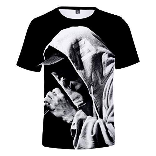 INSTO T-Shirt-Rapper Eminem Kurzarm-T-Shirt Mit Digitaldruck,A2,L