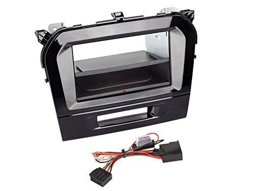 Kit Facade autoradio 2DIN pour Suzuki Vitara ap15 Avec vide poche Inbay Noir brillant - ADNAuto