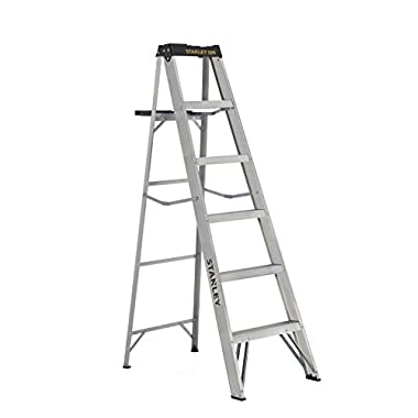 Stanley SXL2212-08 Aluminum Step Ladder Type II, 225 lb Load Capacity 8' with Multi-Functional Top