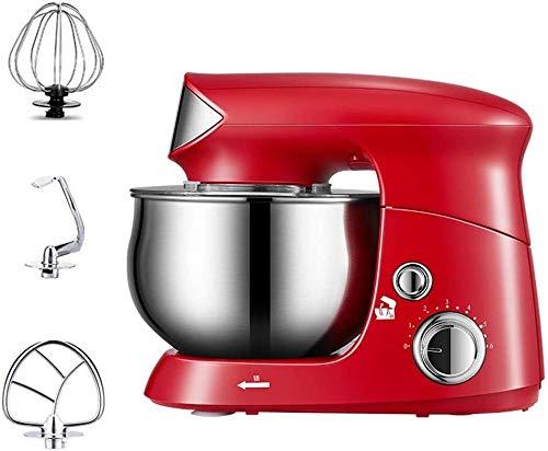 Batidora Amasadora Soporte eléctrico Mezclador Licuadora de mano Bata 600W 6 3.5L velocidad Tazón 3 accesorios de cocina for hornear el pastel de crema de huevo Mini Alimentos Batidor ( Color : Red )
