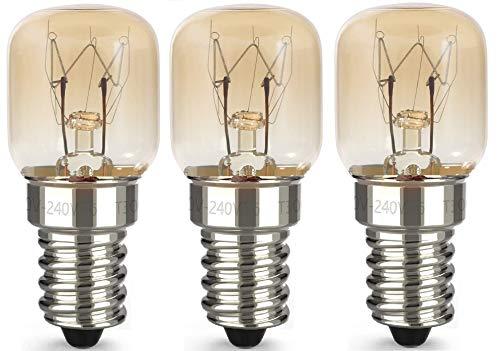AcornSolution 15W T22 E14 230-240V SES backofenlampeDimmbare klare GLS-Glühbirne für Kühl- und Gefriergeräte (3er-Pack)