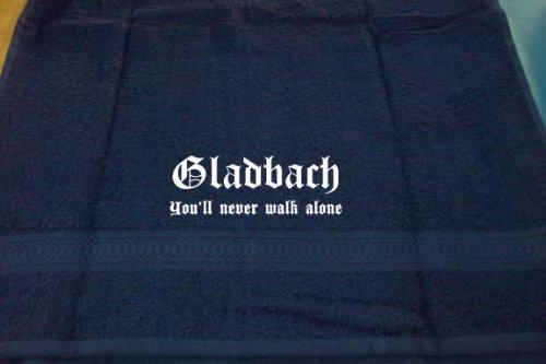 ShirtShop-Saar Gladbach - You'll Never Walk Alone; Badetuch, dunkelblau