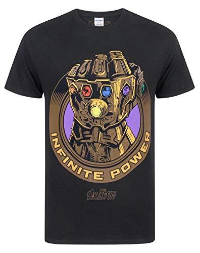 Avengers Infinity War Adultos Camiseta Marvel Thanos guantelete de los Hombres
