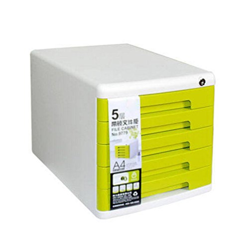 Armoires de classement Liuyu · Maison de Vie Multifonctions de Mode de Bureau de Plancher du Cabinet 5ème de fichier avec des de tiroir de Serrure (Couleur : Vert)