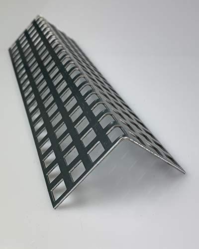 Lochblech Stahl Verzinkt Winkel QG 10-15 Winkelprofil 1,5mm Länge 1000mm, Individuell nach Maß (Schenkel: 20mm x 20mm)